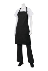 Chef Works F8BLK0 Chef Works Butcher Apron Black 65% Poly/35% Cotton