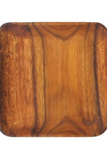 PACIFIC MERCHANTS K0062 PM 10'' Square wood plate