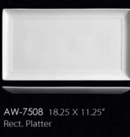 UNIVERSAL ENTERPRISES, INC. AW-7508 18.25 X 11.25'' Rectangular Platter 6/cs