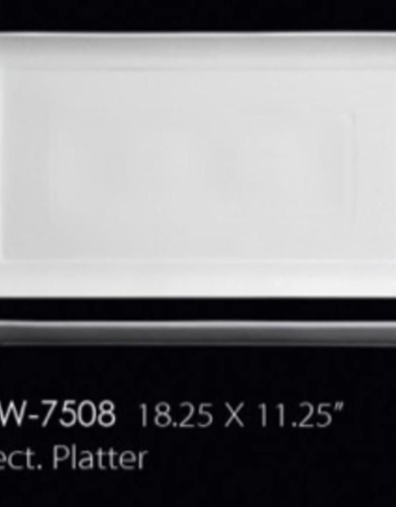 UNIVERSAL ENTERPRISES, INC. AW-7508 18.25 X 11.25'' Rect Platter 6/cs