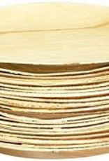 """LW9R Leafware 9"""" Disposable Palm Leaf Round Plate 25ct"""
