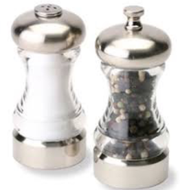 Olde Thompson, Inc. 5004-00 special order OLDE THOMPSON Monterey Pepper Mill Set - Brushed Top 4.5''
