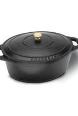 PADERNO WORLD CUISINE Paderno Cast iron Black Round Dutch Oven 4x2 W/ Lid