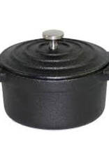 PADERNO WORLD CUISINE A17525B PADERNO Cast iron Black Oval Dutch Oven W/ Lid