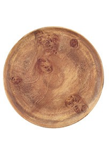 """PACIFIC MERCHANTS PM Wood 12"""" Round Plate"""