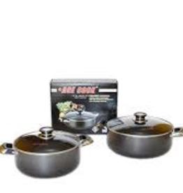 Ace Kitchenware Craft Inc KC306 ACE 6 QT Alum pot non stick coating