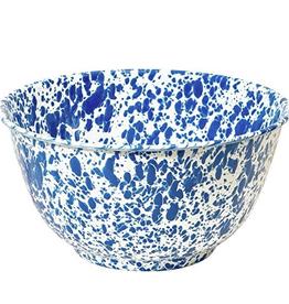 CGS INT. D23DBM Large 4 Qt Salad Bowl Blue Splash Marble