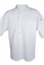 Chef Revival CS006WH-L Chef Revival Cook Shirt White Short Sleeve LG