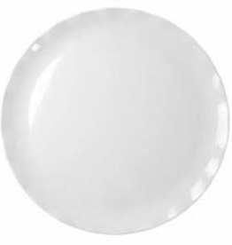 "THUNDER GROUP, INC RF1018W order Universal Thunder 18"" Melamine Round Plate White with Black Pearl Line"