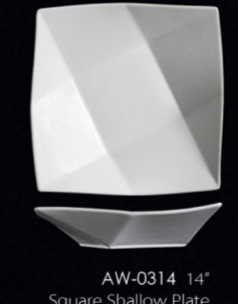 UNIVERSAL ENTERPRISES, INC. AW-0314 14'' Square Shallow Plate 6/cs