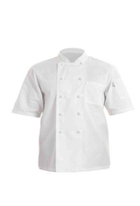 Chef Works Chef Works Volnay Basic  short sleeve Chef Coat Small 65% Poly/35% Cotton