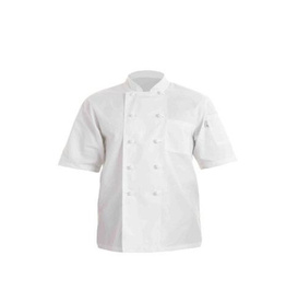 Chef Works PCSSWHTS Chef Works Volnay Basic  short sleeve Chef Coat Small 65% Poly/35% Cotton