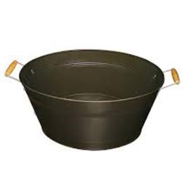 Update Beverage Tub black with wood handle.