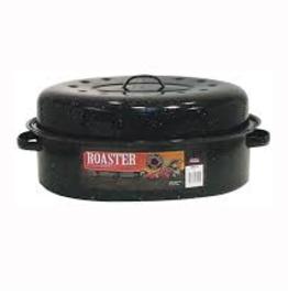 F0510-4 Roaster Oval Covered 19'' Black