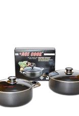 Ace Kitchenware Craft Inc ACE 18 QT Alum pot non stick coating