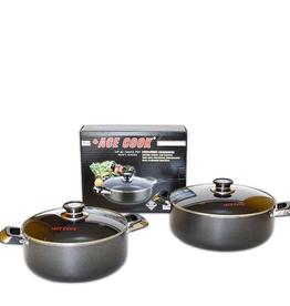 Ace Kitchenware Craft Inc KC318 ACE 18 QT Alum pot non stick coating