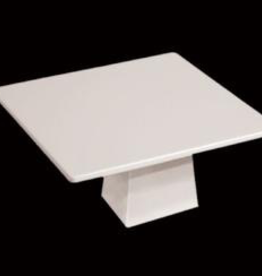 "UNIVERSAL ENTERPRISES, INC. MM0304 14"" Square Cake Platter & Stand White Melamine 2/cs"