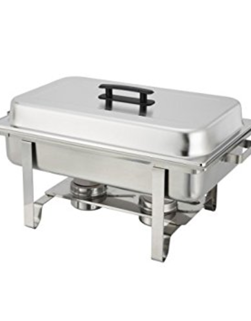 C-3080B WInco 8 Qt. Eco-Chafer W/ Polished Cover & Hold economy