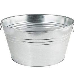 AMERICAN METALCRAFT, INC GPTUB20 AMC Galvanized Oval Bucket beer metal silver