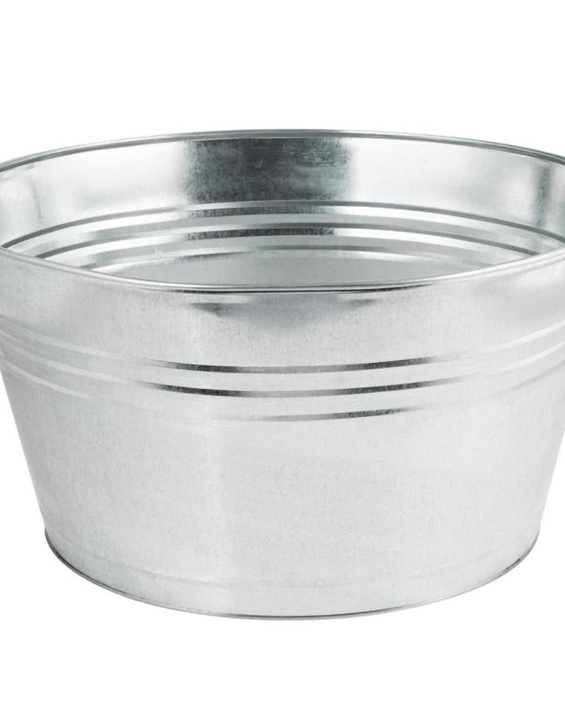 AMERICAN METALCRAFT, INC GPTUB20 ETA 3/1/19 AMC Galvanized Oval Bucket beer metal silver