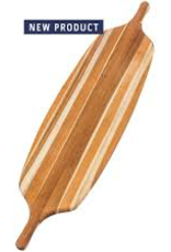 "Teak Haus 704 TEAK TEAK Long Paddle Board 18"" x 14"" x 0.75""w/2 Handles Teakhaus Corner Hole and Juice Groove Rectangle Teakhaus Wood Board"