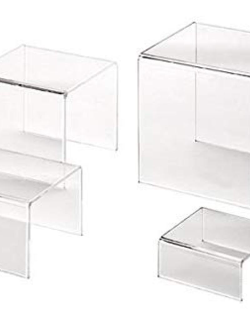 AMERICAN METALCRAFT, INC CRS1 AMC Acrylic Riser Set of 4 Clear
