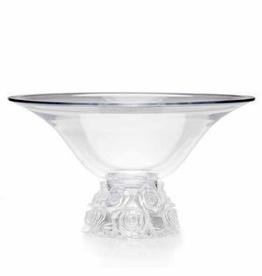 GODINGER 99137 49281 Glass Bowl Rose Bouquet Pattern lalique design
