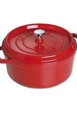 HENCKELS 1102406 Henckels 4qt Round Cocotte Cherry/Red French Cast Iron Staub