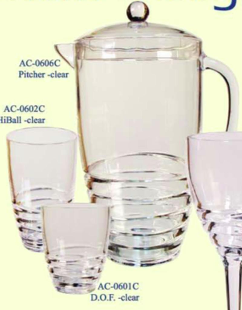 LEADINGWARE GROUP INC AC-0606C Leadingware Acrylic 2.75 qt  Pitcher - Swivel Design Clear