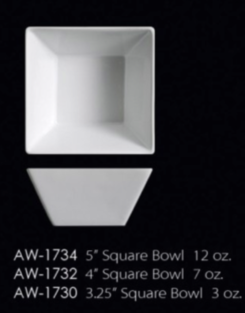 UNIVERSAL ENTERPRISES, INC. AW-1732 4'' Square Bowl 7 Oz. 48/cs
