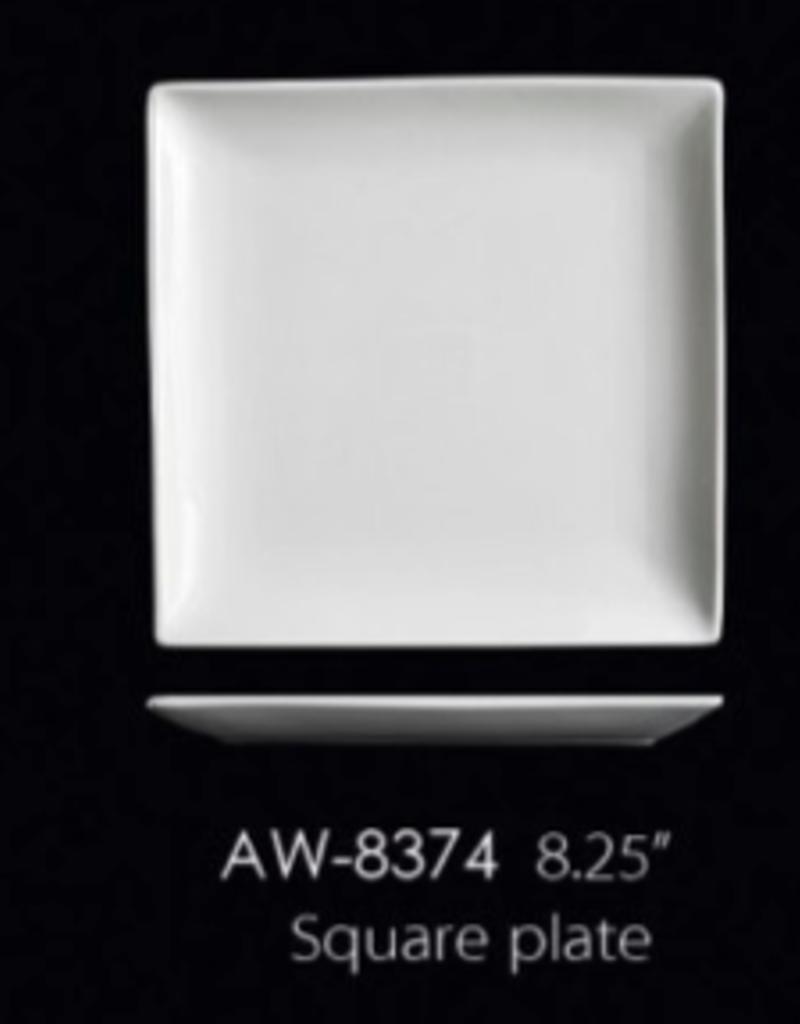 UNIVERSAL ENTERPRISES, INC. AW-8374 8.25'' Square Plate 24/cs