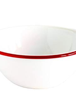 CGS INT. V17RED Cereal Bowl, Solid White Red