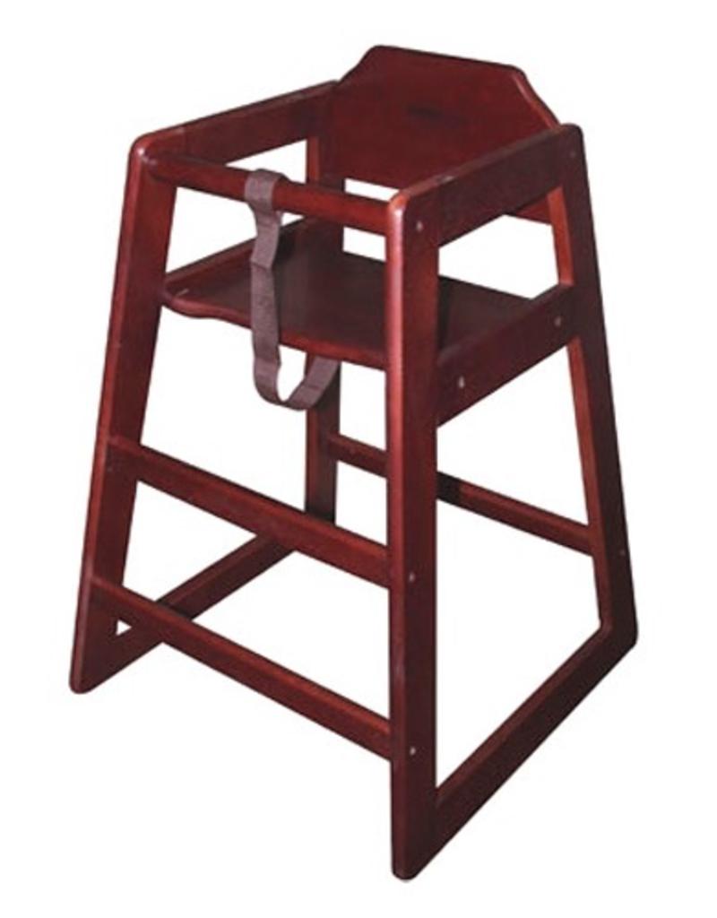 CHH-103A WINCO Stacking Hi-Chair Mahagony