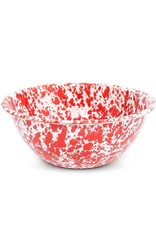 CGS INT. D23RM Large 4 Qt Salad bowl red marble