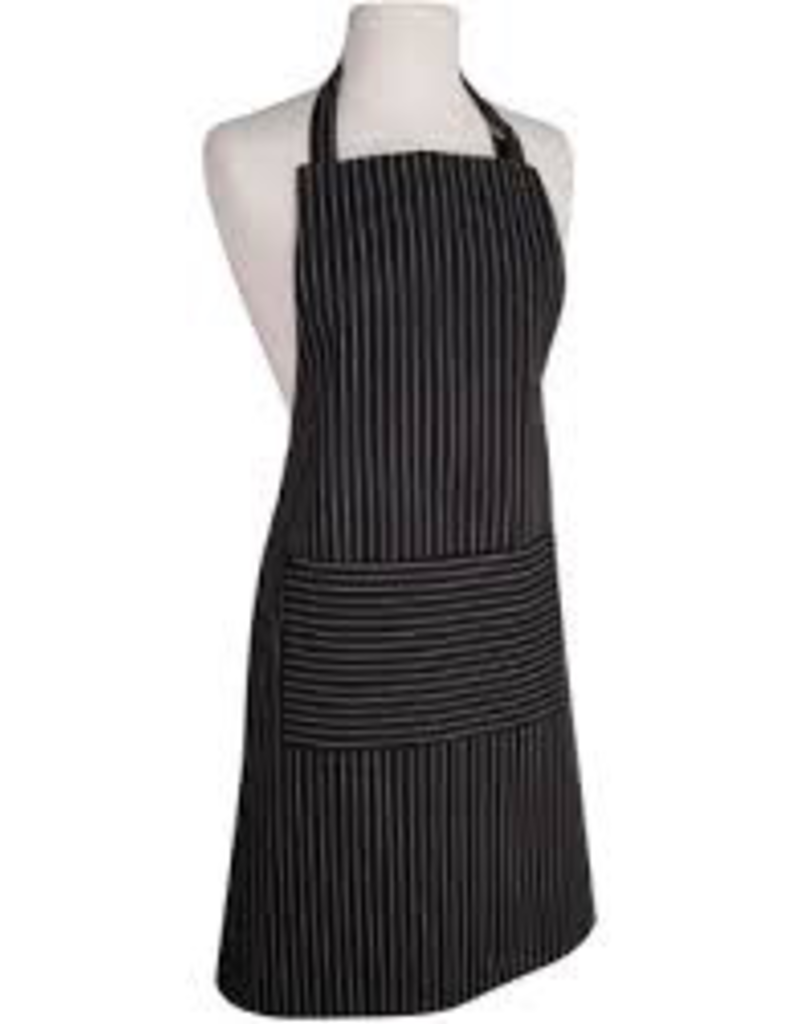 NOW DESIGNS 2500920 Now Design Apron Basic pinstrip Black