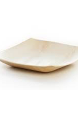"LW9S Leafware 9"" Disposable Palm Leaf Square Plates 25ct"
