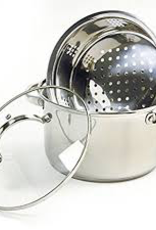 NORPRO 2022 Norpro S/S 3 pc Steamer Set w/ Pot Colander and Lid