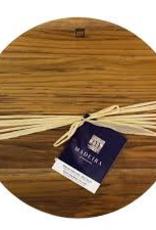 "Architec 1024  special order ARCHITEC Madeira Teak-Edge wood round chop block 14""x1.25"" Board"
