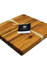 "Architec 1025 ARCHITEC Madeira Board Teak-Edge Wood Grain Medium Chop Block 14""x14""x1.25"