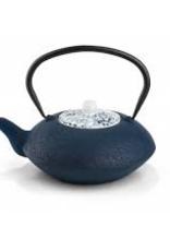 Gourmet Kitchenworks/Gefu B-G021BP special order Bredemeijer 40 fl oz Cast Iron Teapot with procelain lid