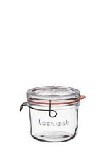 Luigi Bormioli 11961/02  special order Bormioli Luigi lock-eat clear glass food jar  6.75oz