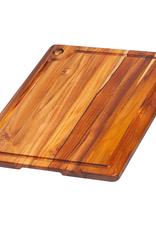 """Teak Haus 517 TEAK TEAK Corner Hole and Juice Groove Rectangle Teakhaus Wood Board 18"""" x 14"""" x 0.75"""""""