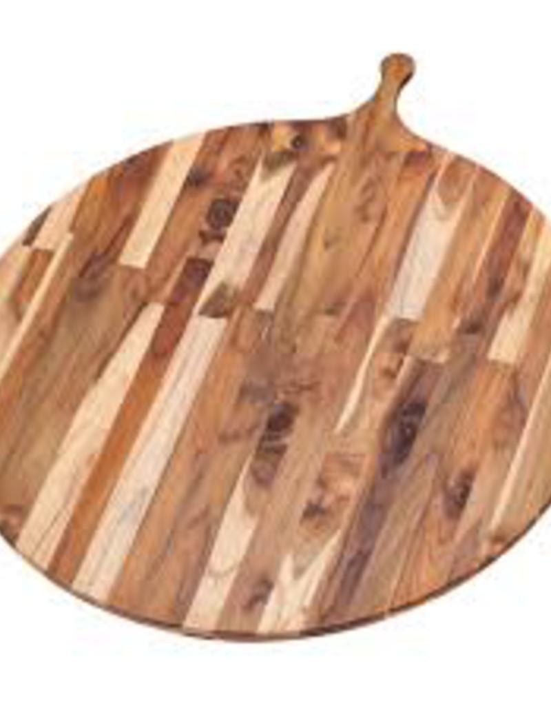 """Teak Haus 901 TEAK TEAK Large Circular 28"""" Wood Round Serving Board Teakhaus 32.5"""" x 28"""" x 0.55"""""""