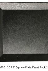 """UNIVERSAL ENTERPRISES, INC. BK-0020 10.25"""" Square Plate Black 12/cs"""