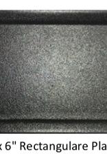UNIVERSAL ENTERPRISES, INC. BK-0034 12 x 6 Rectangular Plate Black 12/cs
