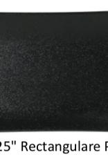 "UNIVERSAL ENTERPRISES, INC. BK-0040 12 x 5.25"" Rectangular plate Black"