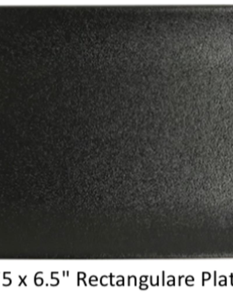 "UNIVERSAL ENTERPRISES, INC. BK-0050 10.75 x 6.5"" Rectangular Plate Black 12/cs"