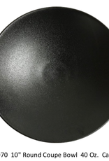 "UNIVERSAL ENTERPRISES, INC. BK-0070 10"" round coupe Bowl 40 oz. Black 12/cs"