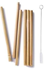 """Bambu 056570 BAMBU 8.5"""" Bamboo Straws Set of 6"""