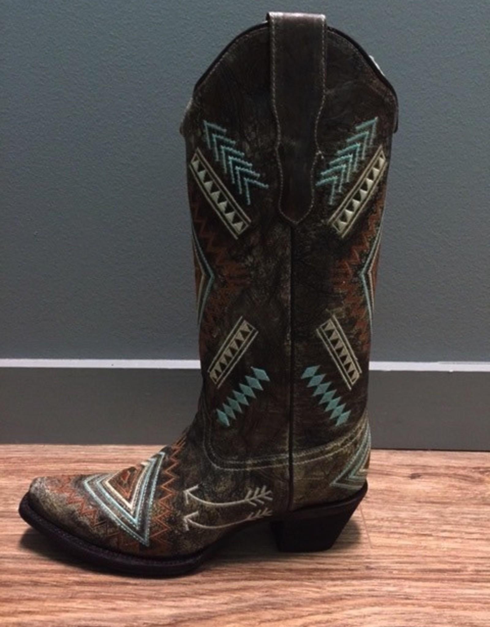 Boot Black/Bone MultiColor Diamond Boot